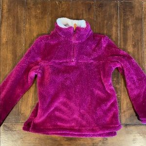 NWOT - Super cute/soft soft fuzzy zip pull over.